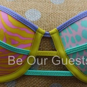 Victoria's Secret Animal Print Bikini Swim Top 34B
